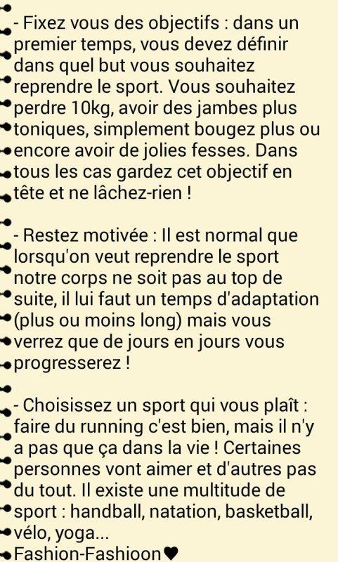 Reprendre Le Sport !