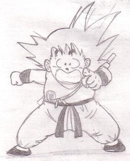 Dessin De San Goku Petit Vive Db Dbz Dbgt Et Le Prince Saiyen Vegeta