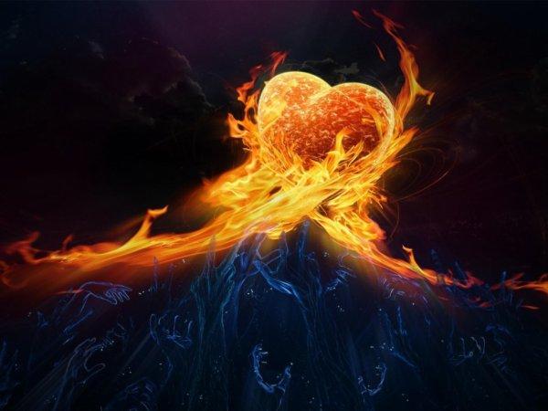 Mon coeur s'emflamme....
