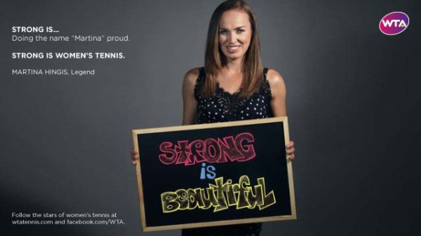 "martina hingis participe a la campagne "" strong is beautiful"" !"