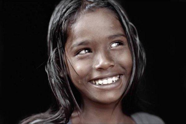 Sourire d'une Indienne