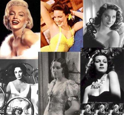 dualité:Marilyn Monroe,Linda Dranel,Élisabeth Taylor,Fay Wray,Rita Hayworth ou Jean Harlow?