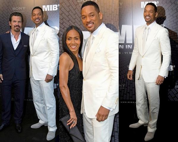 Will Smith a assister à la première de Men in Black 3 a Paris ce 11 Mai.