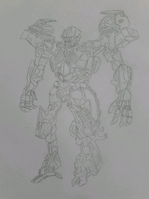 Dessin #01 : Deapcharge (Transformers ROTF)
