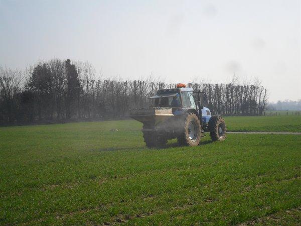 semi d'engrais dans le blé