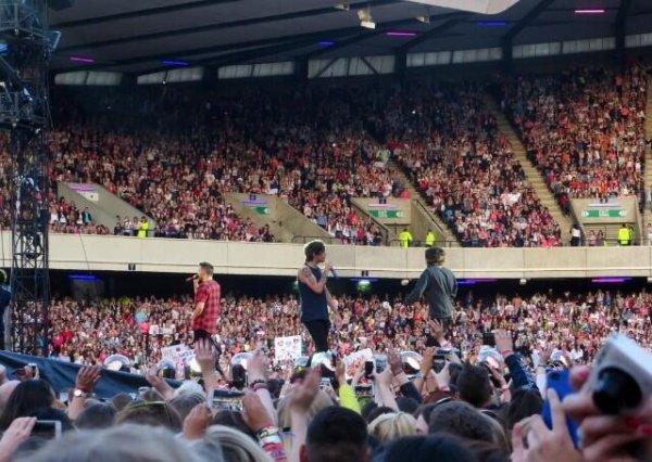 Le concert au stade Murrayfield à Edinburgh le 3/6/2014