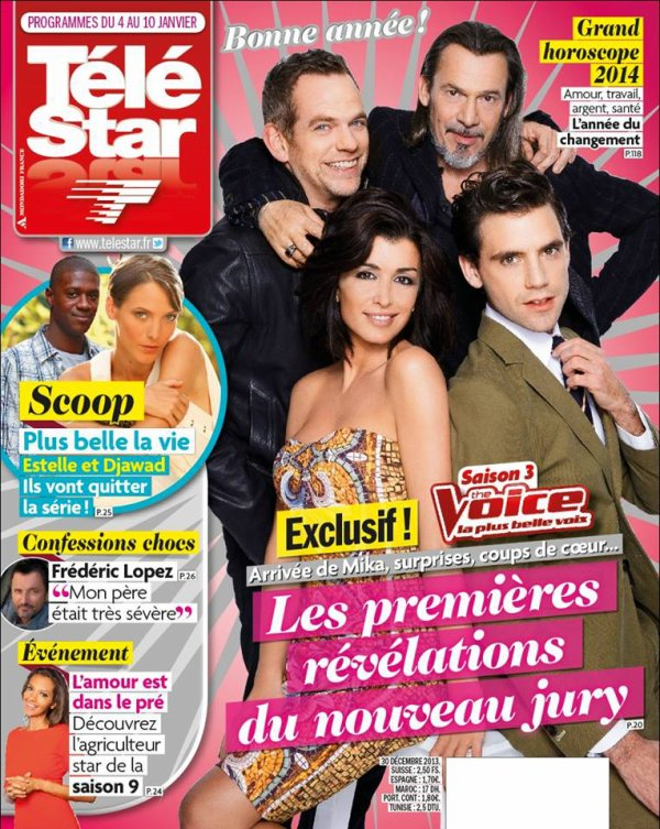 Jenifer en couverture de Télé star et de Tv Grandes chaînes