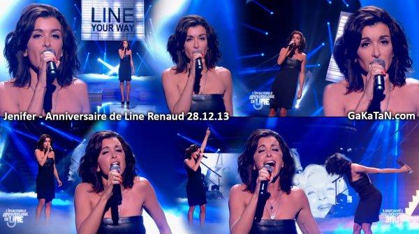 """Jenifer interprete """"My way"""" dans l'incroyable anniversaire de Line renaud"""