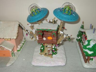 Simpsons Christmas Village.Hawthorne The Simpsons Christmas Village Bart S Treehouse