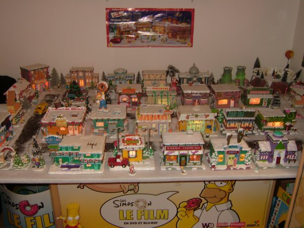 Simpsons Christmas Village.Simpsons Christmas Village Complet Ma Collection Simpsons