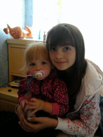 ma soeur et ma petite cousine