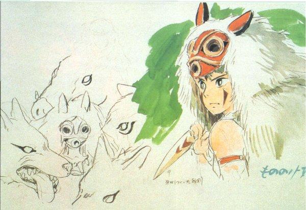 Princesse Mononoké To Draw I Drew Drawn