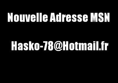 Nouvelle Adresse Msn Disponible ... Hésite Pas , Ajoute La !!!