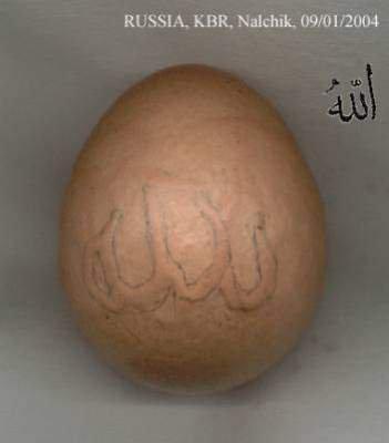 Allah sur un oeuf