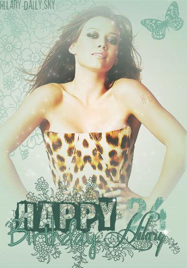 HAPPY  BIRTHDAY  HILARY  ERHARD  DUFF  ♥