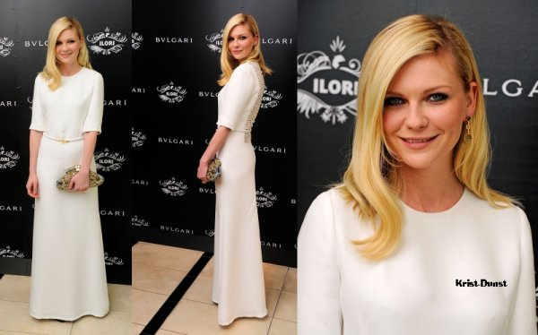 Kirsten au Bulgari's Le Gemme Eyewear Collection Launch .