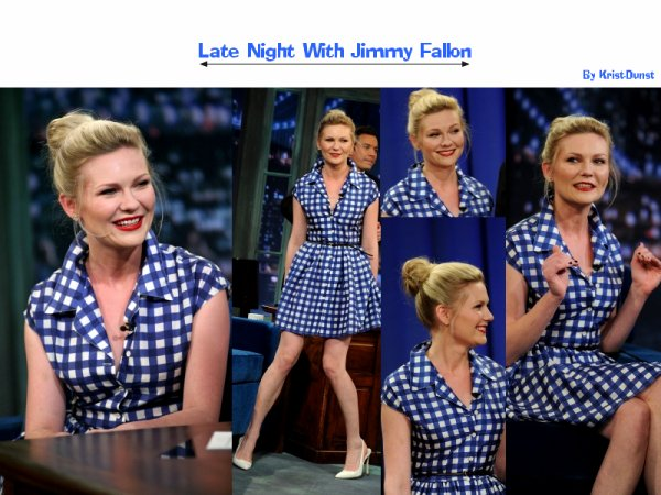 Kirsten au Late Night With Jimmy Fallon ...