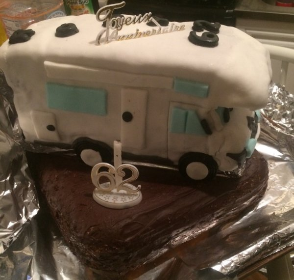 Gâteau camping car