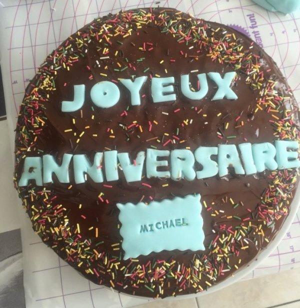 gateau anniversaire aux chocolat