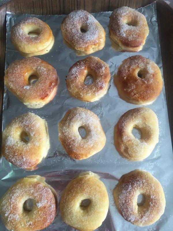 donut cuit au four