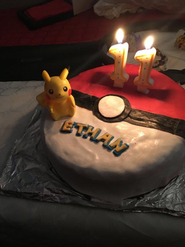 Gâteau pokemons