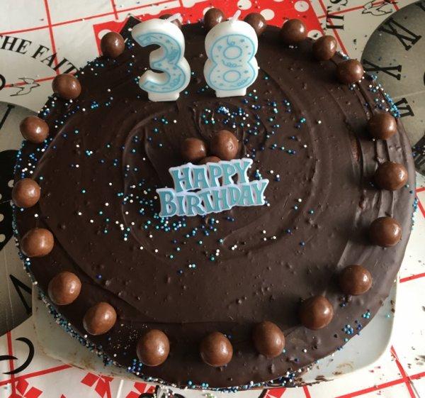 Gateau anniversaire au chocolat