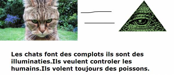 Les chats sont des illuminaties !