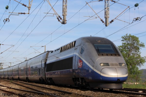 TGV a destination de paris
