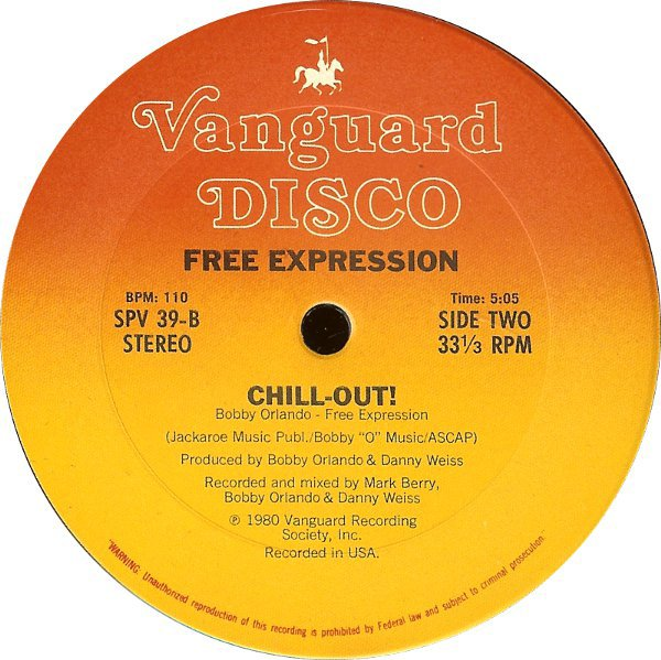 FREE EXPRESSION  - CHILL OUT (1980 VANGUARD)