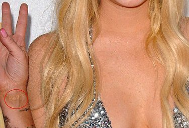 Les tatouages de Lindsay Lohan ....