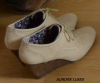 Chaussures Beige à Talon compensé