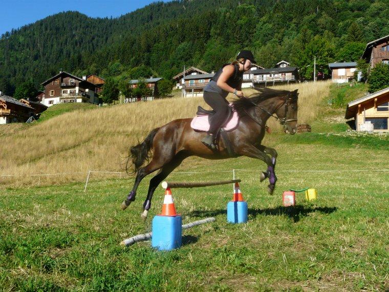 Jette ton coeur par dessus l'obstacle, le cheval le suivra