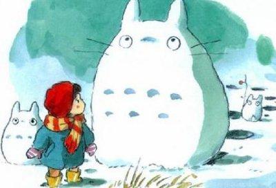 Totoro de neige