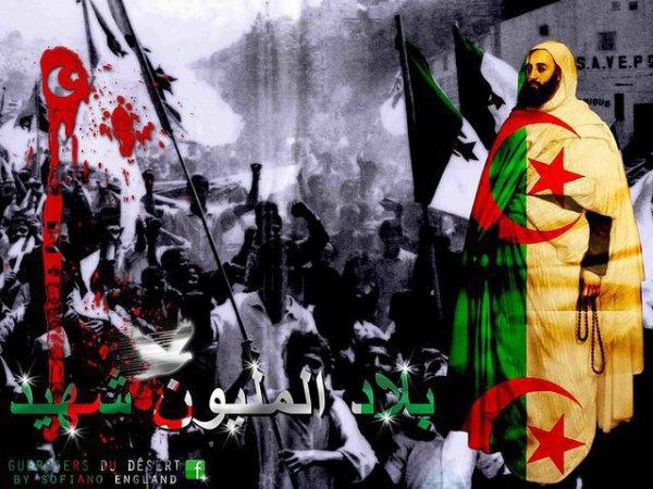 Le grand poète révolutionnaire MOUFDI Zakaria (Rahimahou Allah) à dit à propos de l'Algérie