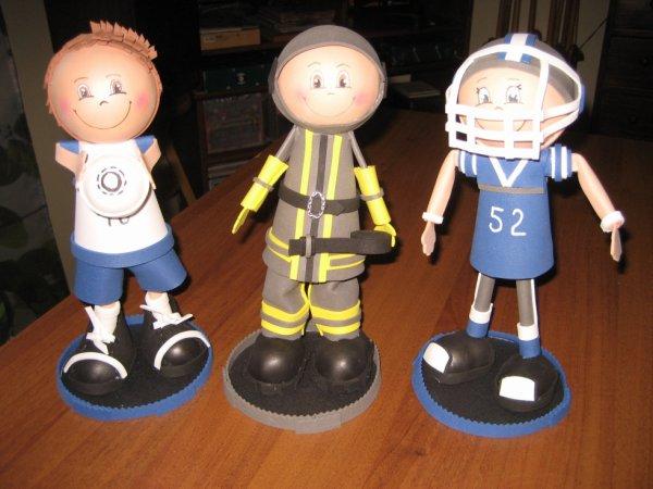 le pompier le footballeur et foot americain