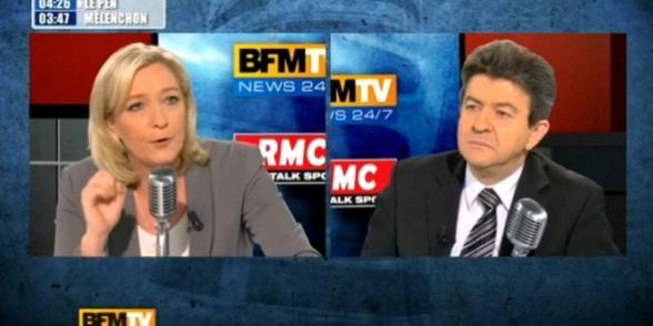 Marine Le Pen décline un débat avec Jean-Luc Mélenchon