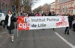 Eurofins-Pasteur débraye à Lille pour défendre l'emploi