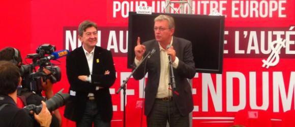 """Pierre Laurent et Jean-Luc Mélenchon: """"On n'est pas fâchés"""""""