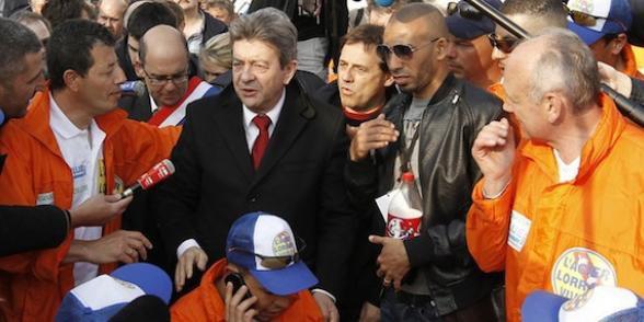 Mélenchon: une marche du Front de gauche pour les ouvriers de Florange