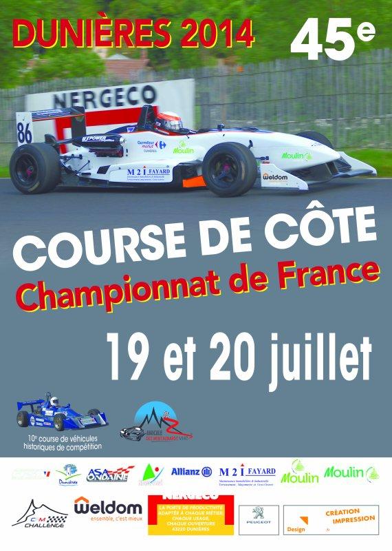 course de côte de dunières 20 et 21 juillet 2014