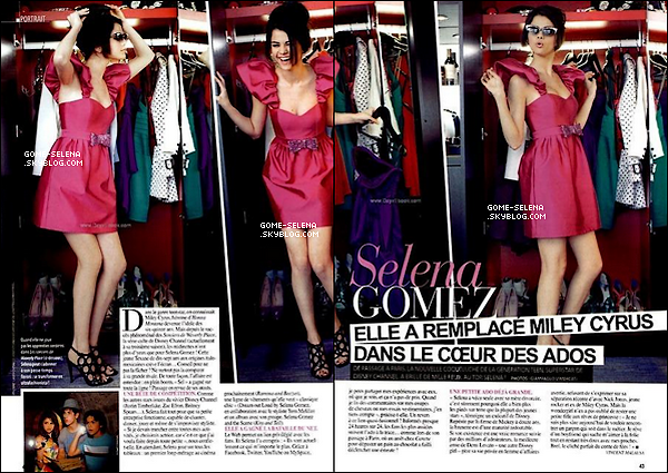 Selena posant pour le célèbre magazine français « Gala » lors de sa venue en France !