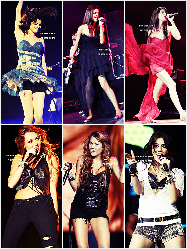 Elles sont toutes les deux chanteuses , mais laquelle est la plus jolie sur scène ? Article en collaboration avec : Miley-Cyrus-14 & PeopleMDR. ♥