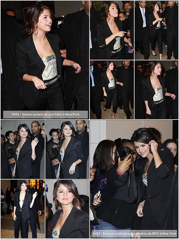 Voici les dernières news de Selena datant du 14, 15 et 16 mars 2011 à New York ! Top ou Flop ?