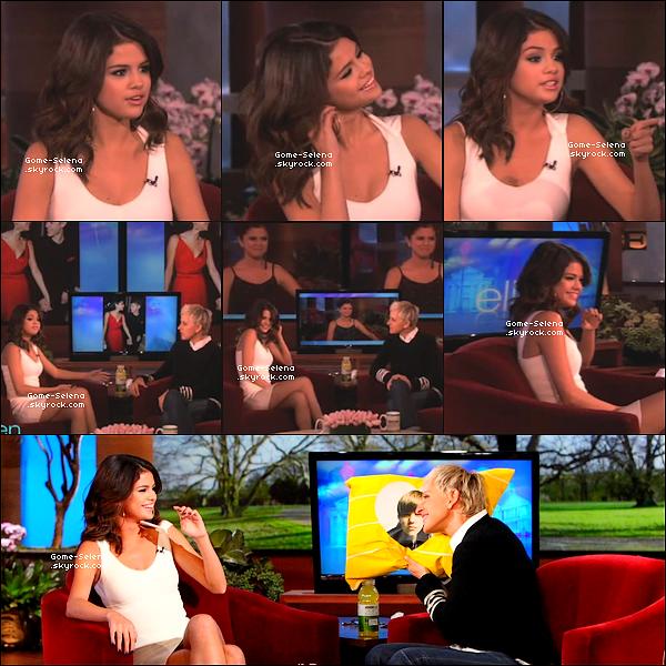 .  22 mars 2011 ♦ Selly était au The Ellen Show et a parler sa relation avec le chanteur Justin. TOP ?