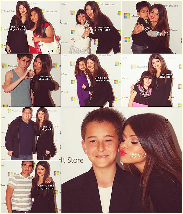 26 mars 2011 Concert : Notre toute mimi Selena and The Scene performant à l'inauguration de la boutique Microsoft au Plaza Côte Sud en Californie. ___Comment la trouvez-vous ? ♥