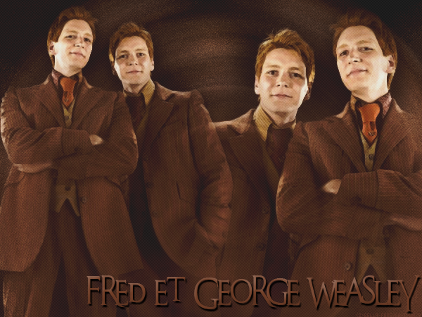 FRED ET GEORGE WEASLEY  Créa - Texte