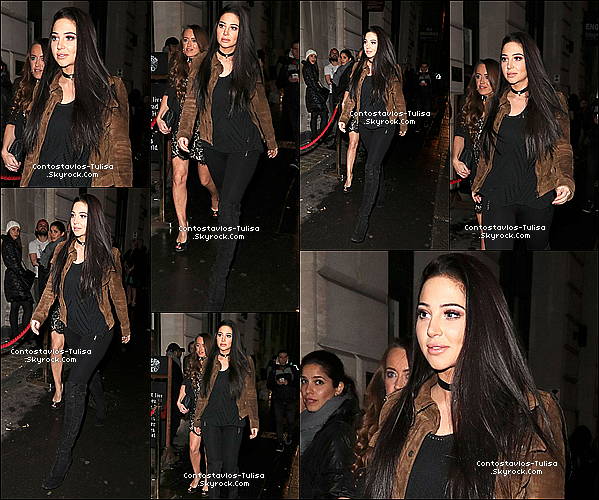 "04.02.17  - Tulisa avec sa BFF Michelle allant au célèbre bar ""Steam and Rye"" de Londres."