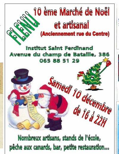 10éme marché de Noël de l'institut saint Ferdinant de Flénu