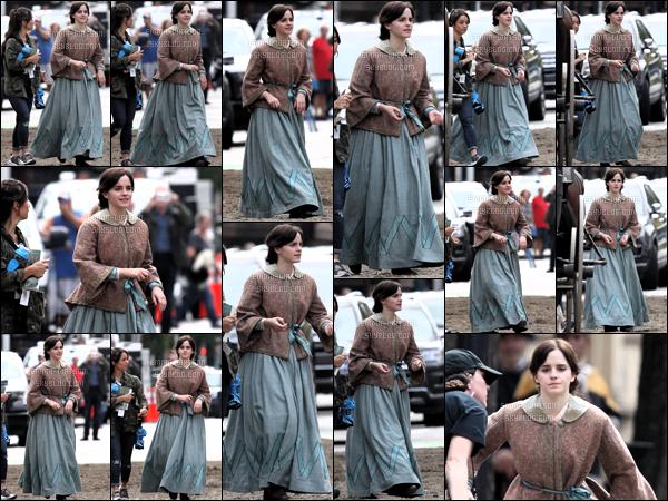 .08/10/18 - Emma Watson a été aperçue sur le tournage de son prochain film les 4 filles du docteur march à Boston.  Très peu de photo disponible les photos arrivent très vite d'autres sont sorties dans la nuit. Enfin des news de miss Emma Watson. Top ! .