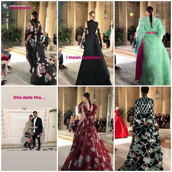 24 Janvier 2018 - Shailene Woodley et son chéri Ben Volavola étaient au défilé de Valentino SS 2018 Fashion Show à la Haute Couture Fashion Week à Paris, France